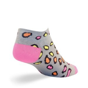 Sockguy Women'S 1In Crazy Cat Cycling/Running Socks (Crazy Cat - S/M)