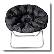 Black Padded Folding Sphere Chair