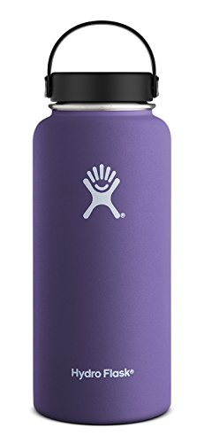Hydro Flask 32 oz Vacuum Insulated Stainless Steel Water Bottle, Wide Mouth w/Flex Cap, Plum (Flex Brew Coffee Filter compare prices)