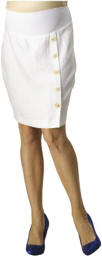 Rosie Pope Women's Button Front Linen Skirt