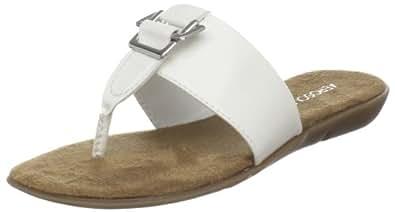 Aerosoles Women's Savvy Thong,White Patent,5 M
