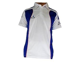 Men's Henselite Professional Polo Shirt White/Navy Size XS