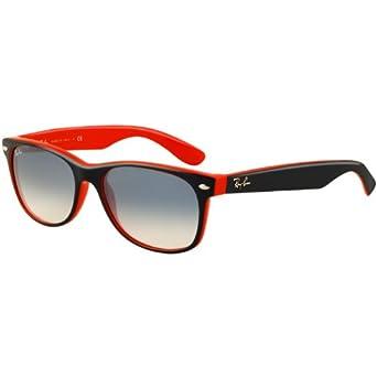 Ray Ban Men's New Wayfarer Square Sunglasses,Top Blue & Orange,52 mm