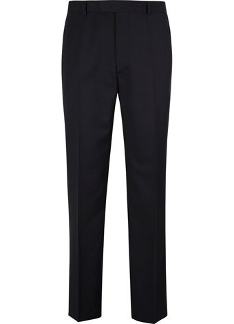 Austin Reed Contemporary Fit Navy Semi Plain Trouser REGULAR MENS 42