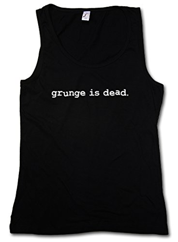 GRUNGE IS DEAD DONNA CANOTTA TANK TOP - Kurt Black Nevermind Cobain Rock RIP Nirvana DONNA CANOTTA TANK TOP Taglie S - XL