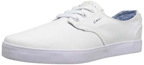 C1RCA Men's Harvey Skateboarding Shoe, White/Navy, 5.5 M US