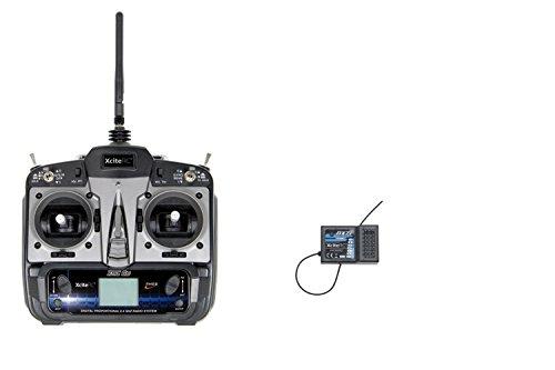 XciteRC-50500010-XRC-6S-RC-Sender-24-GHz-LCD-Display-mit-Empfnger-RX-7i-fr-6-Kanal-TX-schwarz