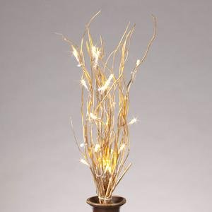 """Everlasting Glow Led 20"""" Battery Operated Gold Willow Lighted Branch"""