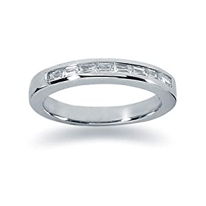 0.56 Baguette Diamond Wedding band in Platinum