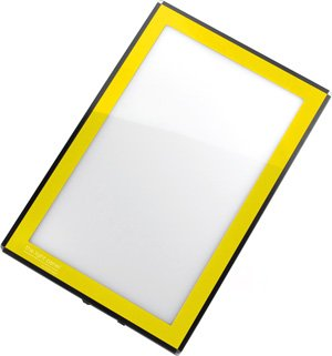 Porta-Trace LED Light Panel, Yellow Frame, 8-1/2-by-11-Inch
