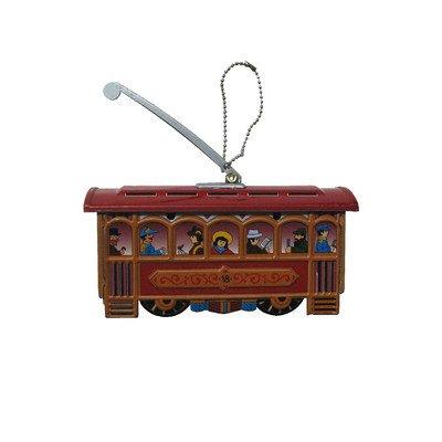 Alexander Taron Home Decoration Collectible Tin Ornament – Cablecar – 3.25″H x 3.5″W x 1.25″D