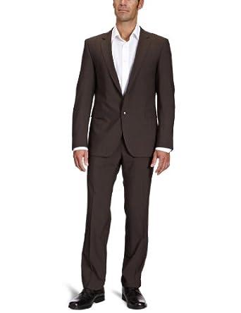 Strellson Premium Herren Anzugsjacke Slim Fit 11000336 / L-Rick, Gr. 46, Braun (152)