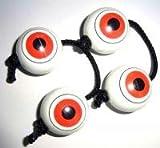 目玉パチカ ホワイト/ホワイト 黒紐 モノクロカラー 2本セット