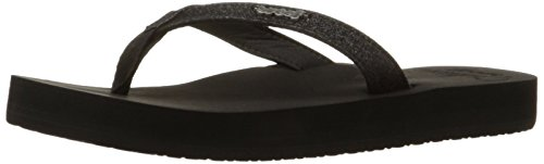 Reef Women's Reef Star Cushion Flip Flop Sandal,Black,8 M US