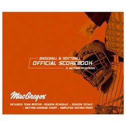 Score Right Baseball Softball Scorebook Oversized