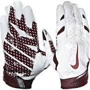 Nike Vapor Jet 3.0 Receiver Gloves Small White/Maroon (Nike Vapor Jet Small compare prices)
