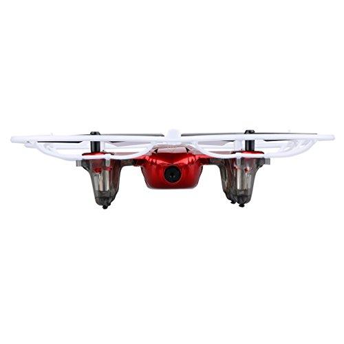 Syma® X11C - Mini Drone Cuadricóptero RC, Air RTF (2.0 Mp Cámara, 4 Canales, 2.4GHz, Luz LED), Rojo