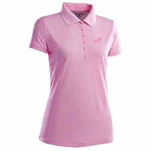 Philadelphia Eagles Ladies Pique Xtra Lite Polo Shirt (Pink) by Antigua