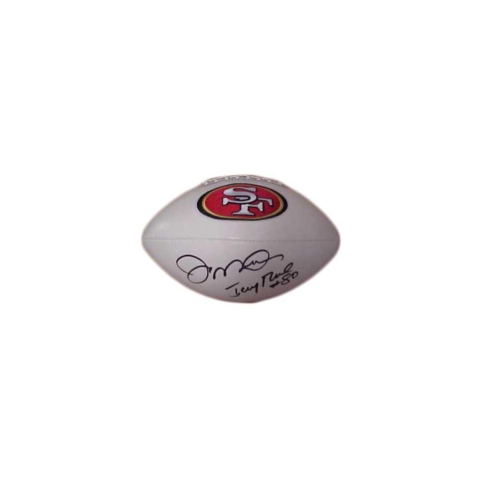 Joe Montana and Jerry Rice Autographed Full Size San Francisco 49ers