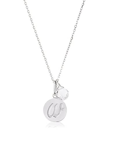 Anzie W Disc Pendant Necklace