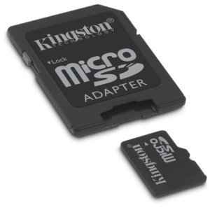 Professional Kingston MicroSD 2GB (2 Gigabyte) Card for Samsung Code with custom formatting and Standard SD Adapter. (Class 4 Certified)