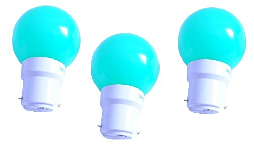 0.5 W LED Light Bulbs Green (Set of 3)
