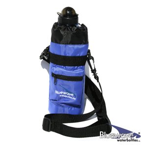 Bluewave Insulated Sport Sac Water Bottle Holder, Blue, 1L