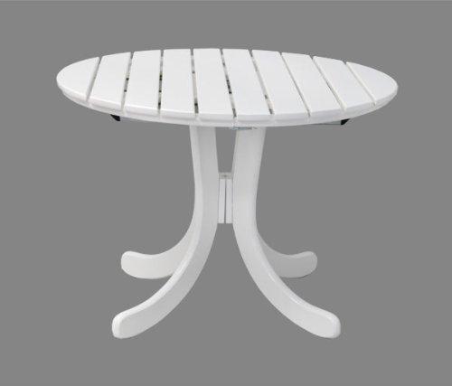Gartentisch Sylt oval – ausziehbar- Holz weiß lackiert – Qualität aus Deutschland jetzt kaufen