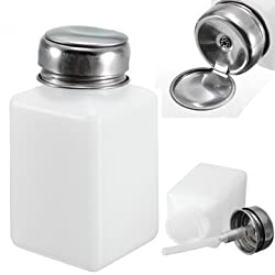 200ml Nail Polish Remover Liquid Press Pump Pumping Bottle Dispenser
