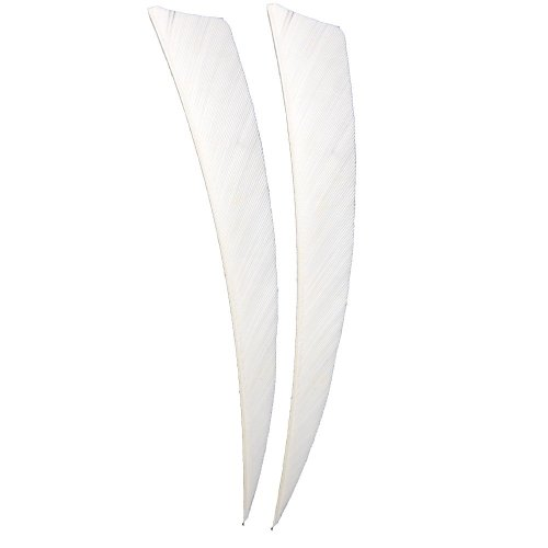 Huntingdoor-50pcs-Peltate-Arrow-Feathers-White-Turkey-Feather-Fletching-Feathers-for-DIY-PracticeHunting-Archery-5-inches-Right-Wing