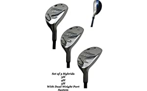 New Linksman Golf Ladies X7 Hybrid Set 3h 4h 5h by Linksman Golf