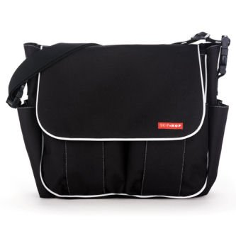 Skip Hop Dash Deluxe Bag Black (White Piping)