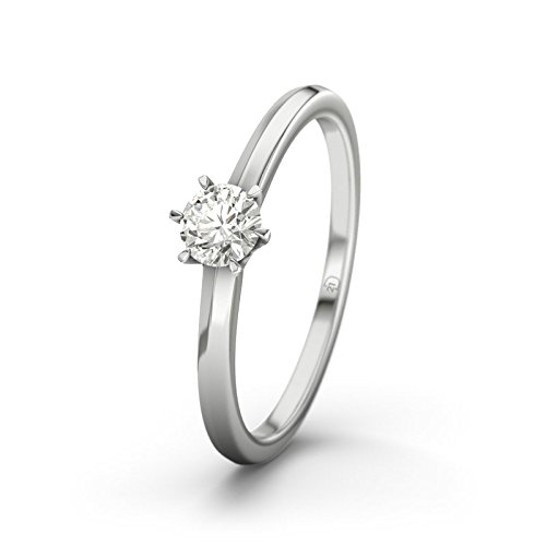 21DIAMONDS Córdoba Women's Engagement Ring - Silver Engagement Ring 0.75 CT Brilliant Cut Diamond Engagement Ring