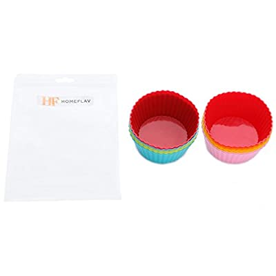 Silicone Baking Cups - Reusable Dessert Muffin Pans Mini Cupcakes Liner