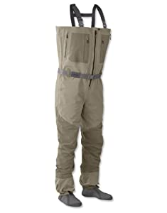 Orvis silver sonic zippered waders xlarge for Fishing waders amazon