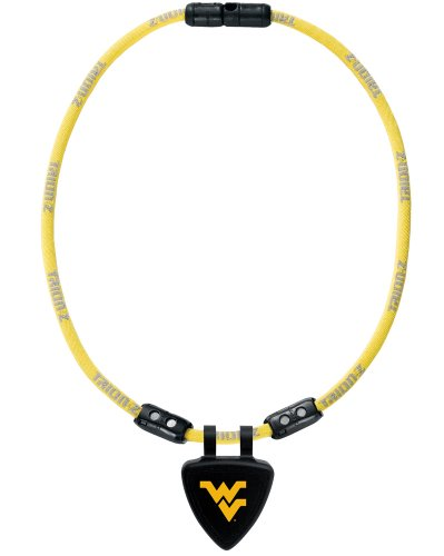 NCAA West Virginia Mountaineers Necklace, Yellow, Small