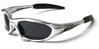 X-Loop Lunettes de Soleil - Sport - Cyclisme - Ski - Mode - Conduite - Moto - Plage / Mod. 1002 Gris / Taille Unique Adulte / Protection 100% UV400