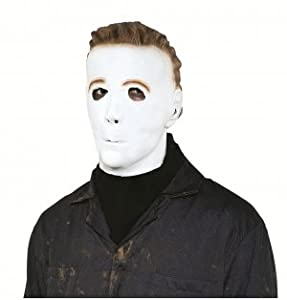 Halloween Michael Myers Latex Mask with Molded Hair from Paper Magic