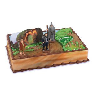 Bakery Crafts - The Hobbit Cake Topper Kit,3 characters & 1 background scene - 1