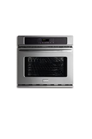 """Frigidaire FGEW3065KF 30"""" Electric Single Wall Oven with Effortless Convection, SpaceWise Half Rack an, Stainless Steel"""