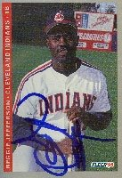 Reggie Jefferson Cleveland Indians 1993 Fleer Autographed Hand Signed Trading Card. by Hall+of+Fame+Memorabilia