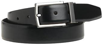 """Kenneth Cole REACTION Men's U-Turn Reversible 1 1/4"""" Leather Belt, Black/Brown, 32"""