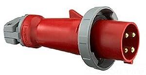 Hubbell HBL560P9W AC Plug IEC60309 560P9W Male IEC 309 Pin & Sleeve