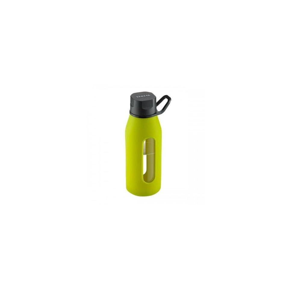 Takeya Usa Glass Water Bottle 16Oz Green