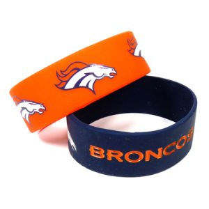 NFL Denver Broncos Silicone Rubber Bracelet Set, 2-Pack at Amazon.com