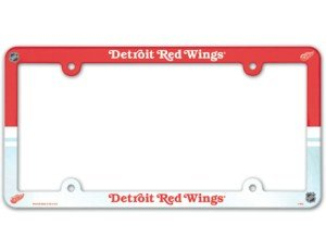 Detroit Red Wings Full Color License Plate Frame front-68448