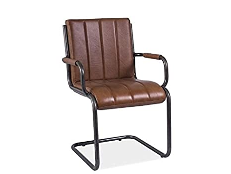 Echtleder Modern Stuhl ARTO Braun 88x47x58x44 cm