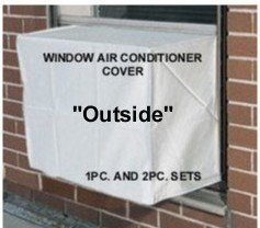 Window Air Conditioner Covers - To keep out cold drafts - Outside Window/thru Wall Cover - 24W, 21H, 21D - White (Window Type Air Conditioner compare prices)