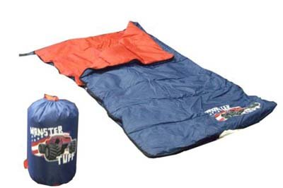 New Gigatent Youth Sleeping Bag Monster camping/vacation child polyester back pack shoulders