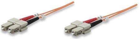 LWL Duplex Patchkabel, Multimode, SC/SC, 62.5/125 µm, 15.0 m, Orange SC/SC, 62.5/125 µm, 15.0 m, Orange